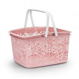 Koszyk plastikowy BASKET RÓŻOWY