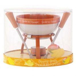 Zestaw do fondue ceramiczny MSC INTERNATONAL GOURMET POMARAŃCZOWY