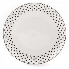 Talerz obiadowy płytki porcelanowy BELLA PORTOFINO  BIAŁY 27,5 cm