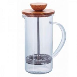 French press / Zaparzacz do kawy tłokowy szklany HARIO TEA PRESS OLIVE WOOD 0,6 l