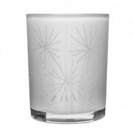 Świecznik tealight szklany SAGAFORM WINTER BIAŁY 12,5 cm