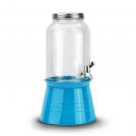 Słoik na napoje szklany z kranikiem DRINK NIEBIESKI 3,6 l