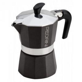 Kawiarka aluminiowa ciśnieniowa PEDRINI AROMA COLOR CIEMNOSZARA - kafetiera na 1 filiżankę espresso