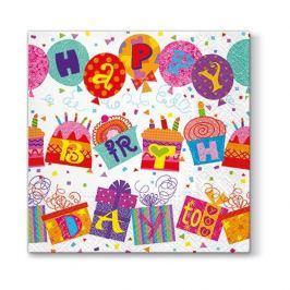 Serwetki papierowe urodzinowe PAW UNUSUAL BIRTHDAY BIAŁE 20 szt.