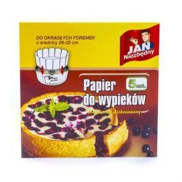 Papier do pieczenia w arkuszach silikonowany JAN NIEZBĘDNY CAKE BIAŁY 5 szt.