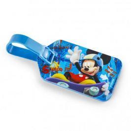 Zawieszka na bagaż plastikowa DISNEY MYSZKA MICKEY NIEBIESKA 5 x 8,5 cm