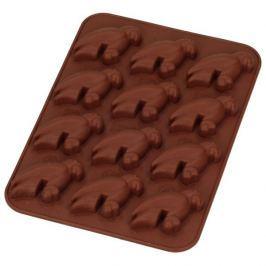 Forma do 12 czekoladek silikonowa SILIKOMART PAPUGI BRĄZOWA
