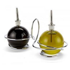 Butelki na oliwę i ocet szklane z dozownikiem BLACK BLUM LOOP 2 szt.