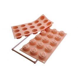 Forma do 15 czekoladek silikonowa SILIKOMART ROSE MINI RÓŻOWA
