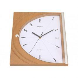 Zegar ścienny plastikowy KINGHOFF PROSTOKĄT BRĄZOWY