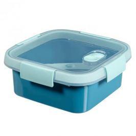 Lunch box plastikowy ze sztućcami CURVER SMART TO GO KWADRATOWY NIEBIESKI 0,9 l