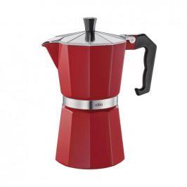 Kawiarka aluminiowa ciśnieniowa CILIO CLASSICO CZERWONA - kafetiera na 6 filiżanek espresso