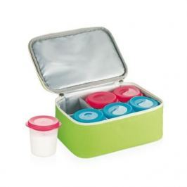 Pojemniki na jogurt plastikowe z torbą termoizolacyjną TESCOMA BAMBINI WIELOKOLOROWE 6 szt.
