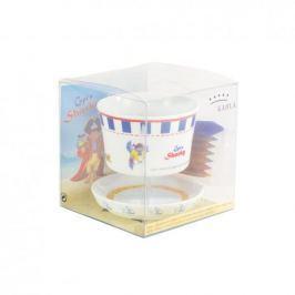 Naczynia dla dzieci porcelanowe KAHLA CAPITAN SHARKY BIAŁE (9 el.)