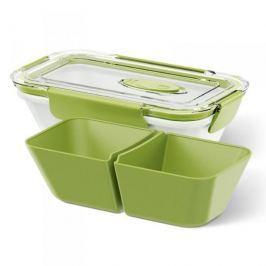 Lunch box plastikowy dwukomorowy EMSA BENTO BOX LOW MAŁY 0,5 l