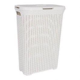 Brudownik / Kosz na pranie i bieliznę plastikowy CURVER STYLE KREMOWY 40 l