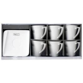 Serwis kawowy porcelanowy HOME DELUX QUATRE BIAŁY na 6 osób (12 el.)
