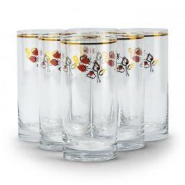 Szklanki do napojów szklane MATERIAL 250 ml 6 szt.