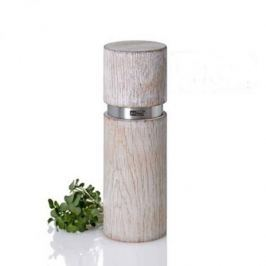 Młynek do pieprzu i soli drewniany ręczny ADHOC TEXTURA ANTIQUE BIAŁY 15 cm