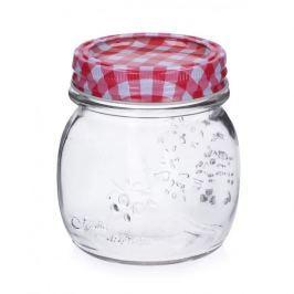 Słoik na przetwory szklany CZERWONA KRATKA 0,3 l