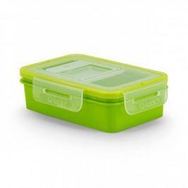 Pojemnik na żywność plastikowy BRANQ QLOCK RECTANGLE  ZIELONY 0,35 l