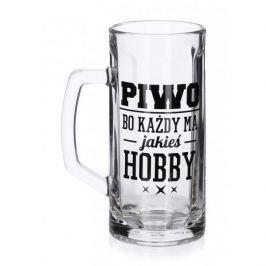 Kufel do piwa szklany FUN HOBBY 600 ml