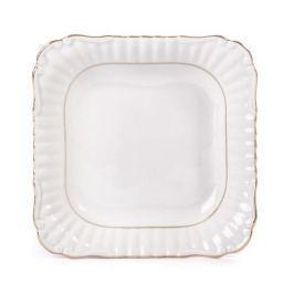 Miska / Salaterka porcelanowa CHODZIEŻ IWONA ZŁOTA LINIA KWADRAT BIAŁA 0,5 l