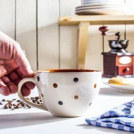 Filiżanka do kawy i herbaty ceramiczna JUMBO MATRON MIX KOLORÓW 450 ml