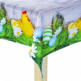 Obrus na stół wielkanocny poliestrowy MILANO KURCZAK BIAŁY 85 x 85 cm