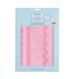 Szablon do dekoracji ciast silikonowy KITCHEN CRAFT SWEETLY DOES IT ROSA RÓŻOWY 40 x 27 cm