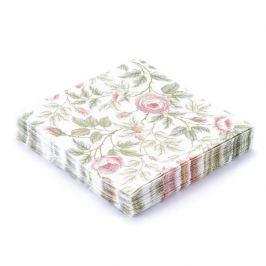 Serwetki papierowe dekoracyjne MGLISTE RÓŻE BIAŁE 20 szt.