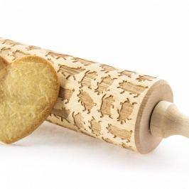 Wałek dekoracyjny do ciasta drewniany ŚWINKI