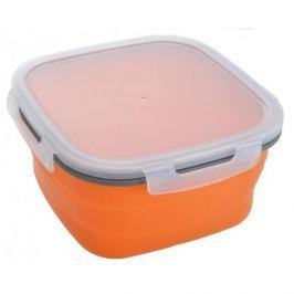 Lunch box silikonowy składany POMARAŃCZOWY 1,8 l