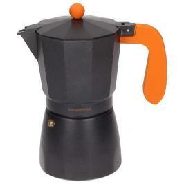 Kawiarka aluminiowa ciśnieniowa KONIGHOFFER BLACK AMERICANO CZARNA -  kafetiera na 9 filiżanek espresso
