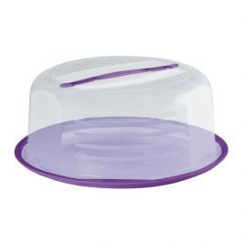 Pojemnik na ciasto plastikowy DOMOTTI VIOLET 36,5 cm