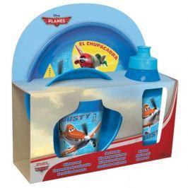 Naczynia dla dzieci plastikowe z bidonem DISNEY SAMOLOTY 4 szt.