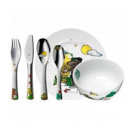 Naczynia dla dzieci porcelanowe WMF JANOSCH WIELOKOLOROWE ( 6 el.)
