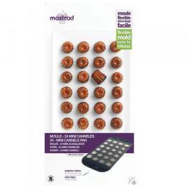 Forma do 24 czekoladek / ciastek silikonowa MASTRAD MINI CANELE SZARA