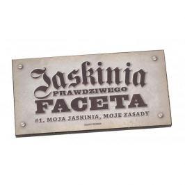 Tabliczka z napisem dekoracyjna drewniana PAN DRAGON JASKINIA