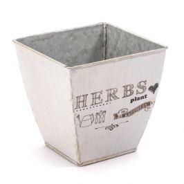 Osłonka na doniczkę metalowa MONDEX HERBS PLANT SZARA 15 cm
