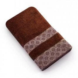 Ręcznik łazienkowy bawełniany MISS LUCY KUBA BRĄZOWY 50 x 90 cm