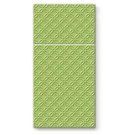 Serwetki papierowe dekoracyjne  PAW POCKET ZIELONE 16 szt.