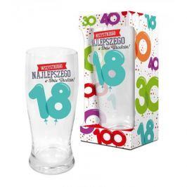 Szklanka do piwa BALONIKI 18-ste URODZINY 600 ml