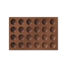 Forma do 24 czekoladek silikonowa TESCOMA DELICIA MUSZLA BRĄZ0WA