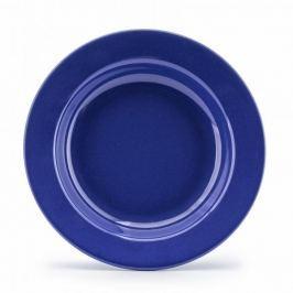 Talerz obiadowy głęboki ceramiczny GENKI GRANATOWY 22,5 cm