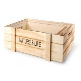 Skrzynki drewniane ozdobne MONDEX NATURE & LIFE 3 szt.