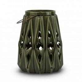 Lampion ozdobny ceramiczny DUO IMMENSITY ZIELONY 28,5 cm