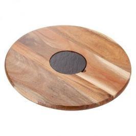 Deska do serwowania serów i przekąsek obrotowa drewniana JUDGE RETRO 35 cm