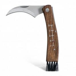 Nóż do grzybów ze stali nierdzewnej z etui SAGAFORM OUTDOOR BRĄZOWY