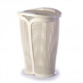 Brudownik / Kosz na pranie i bieliznę plastikowy TONTARELLI INGRID KREMOWY 45 l
